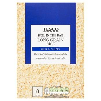 Tesco Easy Cook Boil In Bag Rice 500g
