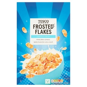 Tesco Frosted Flakes Cereal 500g