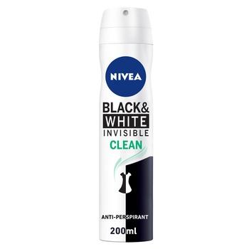 Nivea Deo Spray Black & White Clean for Women 200ml