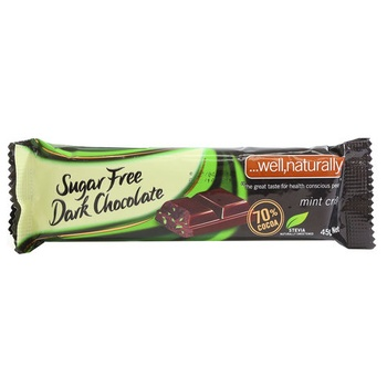 Stevia Sugar Free Mint Crisp Dark Chocolate 45g