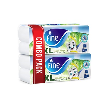 Fine Toilet Tissue Classic (10 X 400 X 2 Ply) Pack Of 2