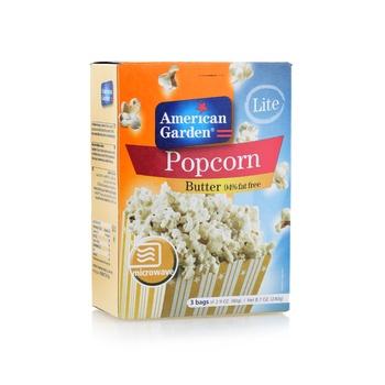 American Garden Microwave Popcorn Fat Free Butter (3X3Oz)