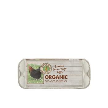 Organic larder free range eggs 10's