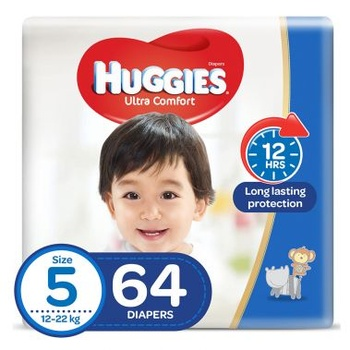 Huggies Ultra Comfort Diapers Size 5 Jumbo Pack 64 piecs @ 20% Off