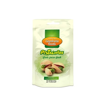 Goodness Foods Pistachios Roasted Salted 175g