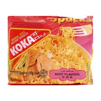 Koka Beef Noodles 5 X 85g