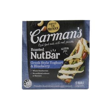 Carman'S Roasted Nut Bars  Greek Style Yoghurt & Blueberry 160g