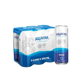 Aquafina Drinking Water Recyclable Can 330ml Pack of 6