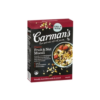Carmans Classic Fruit & Nut Muesli 500g
