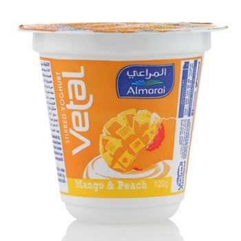 Almarai Vetal Fruit Yoghurt Mango & Peach 120g