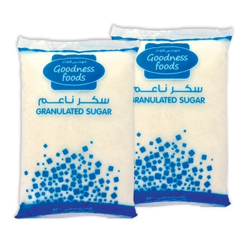 Goodness Foods Sugar 2x2Kg