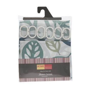 Shower Curtain with Hooks 180cm X 180cm