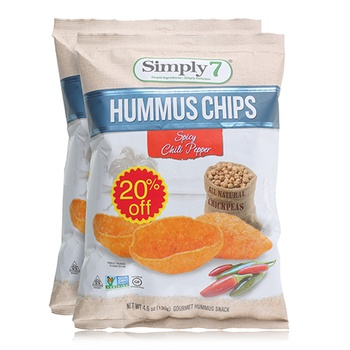 Simply7 Hummus Spicy 2x46oz