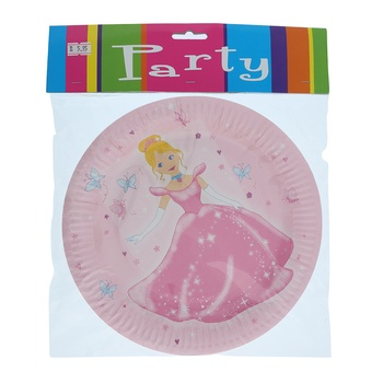 Princess Paper Plate -6pcs pack
