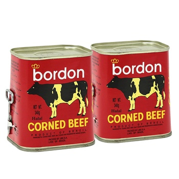Bordon corned beef (halal) 2 x 340g