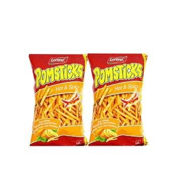 Lrnz Pomstick Hot&Spcy 100g Pack of 2