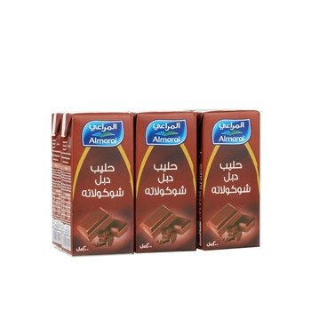Almarai double chocolate flavoured milk 6x200ml