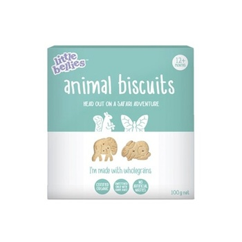 Little Bellies Animal Biscuits 100g