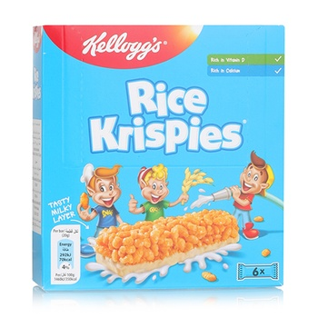 Kellogs Rice Krispies Cereal Bar 6x20g