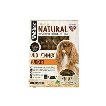 Webbox Natural Dog Food Duo Dinner Turkey 140g + 70g