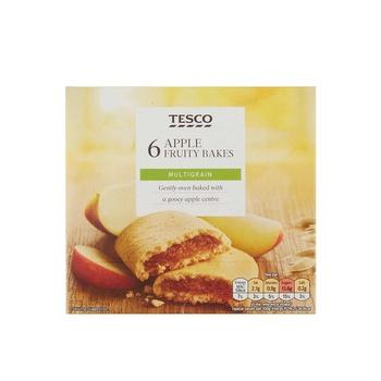 Tesco 6 Apple Fruity Bakes 222g