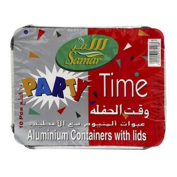 Samar Aluminium Containers With Lids X Large 10pcs
