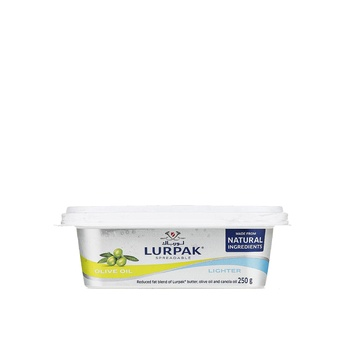 Lurpak Salted Lighter Spreadable Butter with Olive Oil 250g