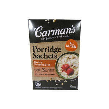 Carmans Porridge Sachets - Honey & Roasted Nuts 320g