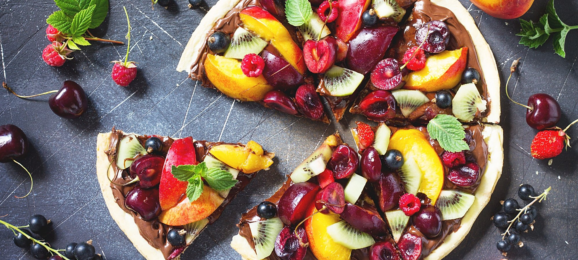 Summer fruit berry pizza with chocolate paste .jpg