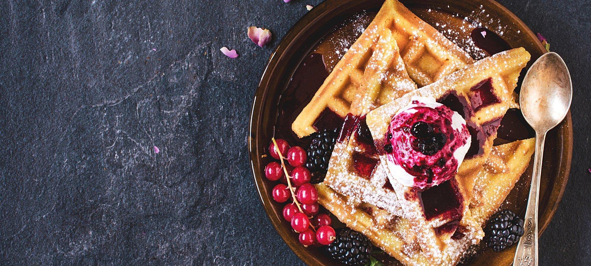 Traditional Belgian waffles with berry fruit jam.jpg