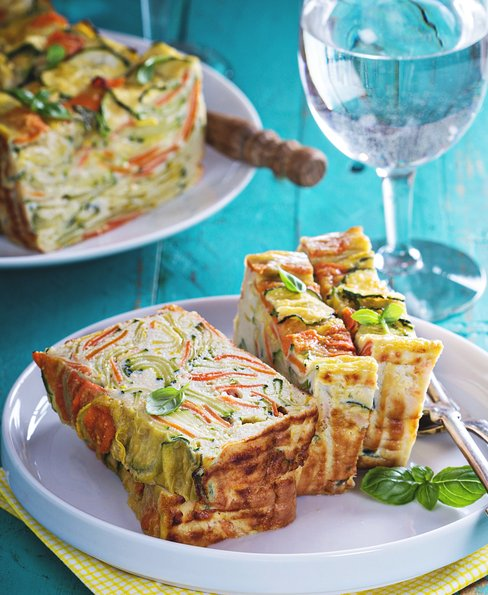 Vegetable loaf with coconut flour, zucchini and carrot